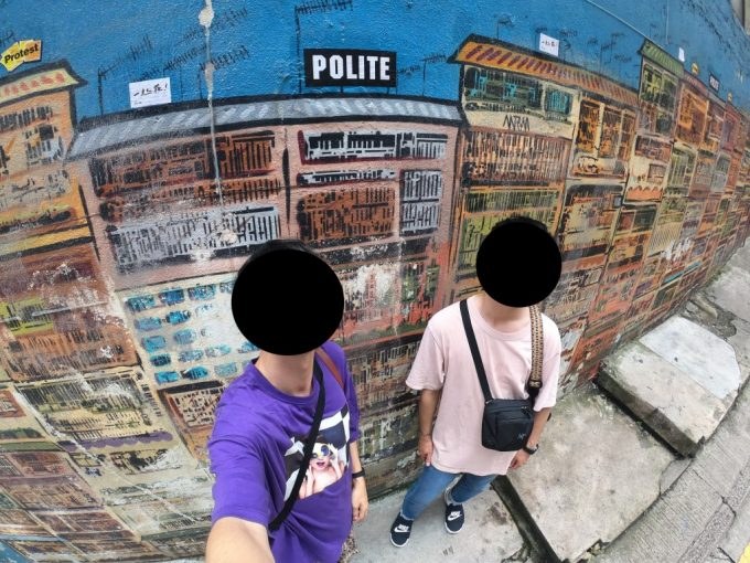香港 壁アート
